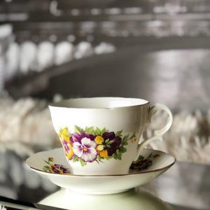 Vintage Bone-China Teacup and Saucer